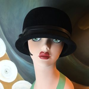 1950's Peachbloom Velour Cloche
